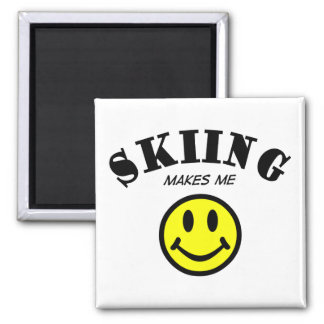 MMS: Skiing Square Magnet