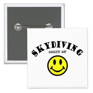 MMS: Skydiving 15 Cm Square Badge