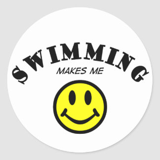 MMS: Swimming Classic Round Sticker
