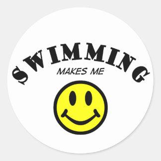 MMS: Swimming Round Sticker