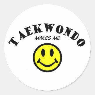 MMS: Taekwondo Classic Round Sticker