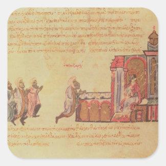 MMS Vitr 26-7 The Byzantine Emperor Romanus III Ar Square Sticker