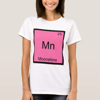 Mn - Moonshine Funny Chemistry Element Symbol Tee