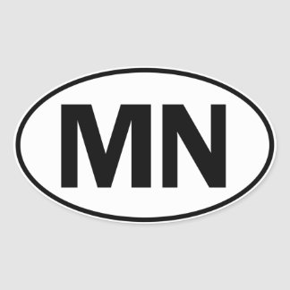 MN Oval Identity Sign Oval Sticker