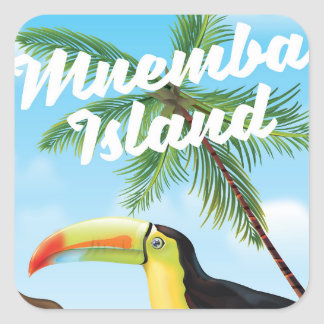 Mnemba Island Square Sticker