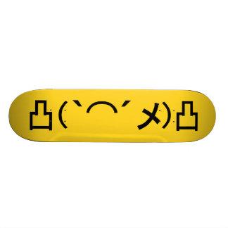 Mo' Angry Emoticon Japanese Kaomoji Skate Boards