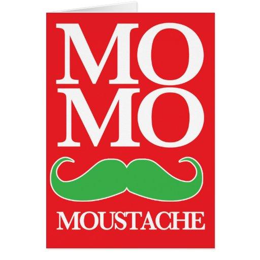 Mo Merry Moustache Card