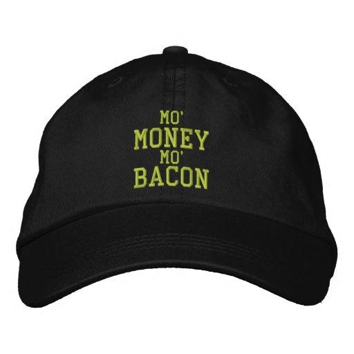 MO' MONEY MO' BACON Embroidered Cap Baseball Cap