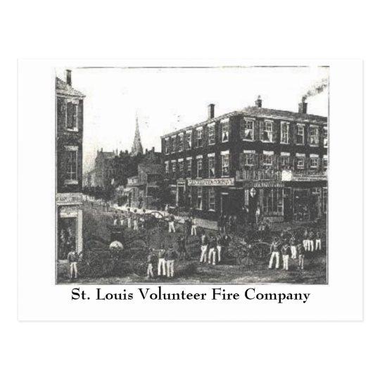 MO St. Louis Volunteer Fire Company 1848 Missouri Postcard