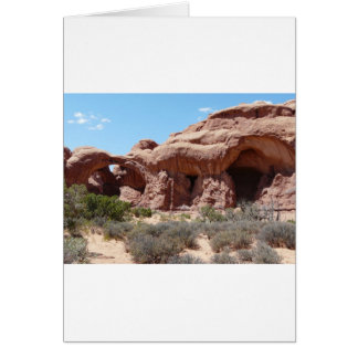 moab arches greeting card