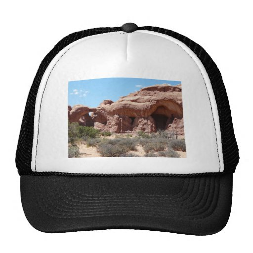 moab arches trucker hat
