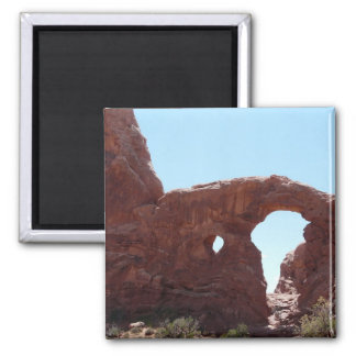 moab arches square magnet