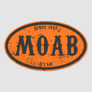 Moab Freakshow Oval Sticker
