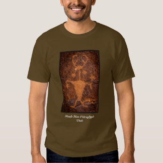 Moab Man Petroglyph Portrait - Utah Tshirts