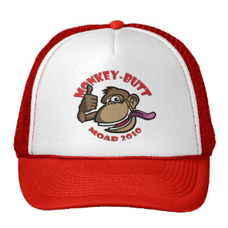 Moab Monkey Butt - Hat - Red