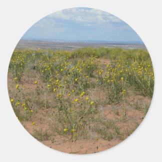 moab prarie round sticker