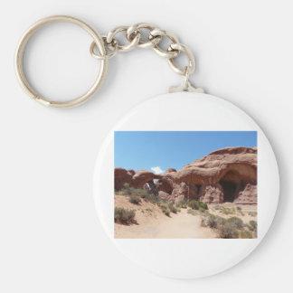 moab rocks basic round button key ring