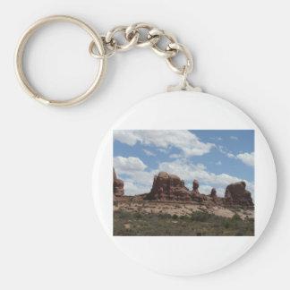 moab scenery basic round button key ring