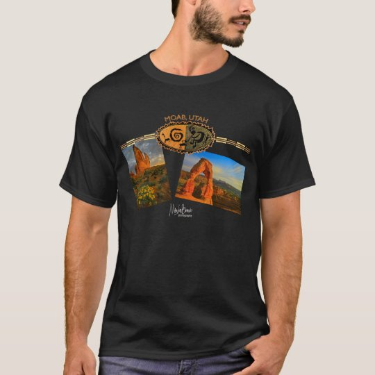 MOAB, UT Black T-Shirt
