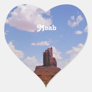 Moab, UT Heart Stickers