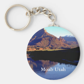 Moab Utah Basic Round Button Key Ring