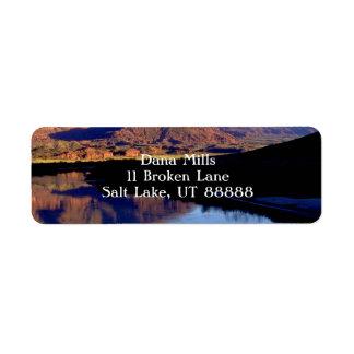 Moab Utah Return Address Label