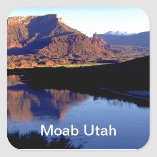 Moab Utah Photograph Square Sticker