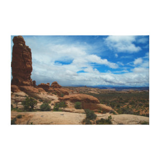 Moab Utah Red Rock Canyons Stretched Canvas Print
