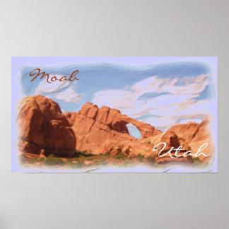 Moab Utah rock scenic poster