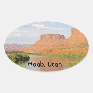 Moab, Utah Oval Stickers