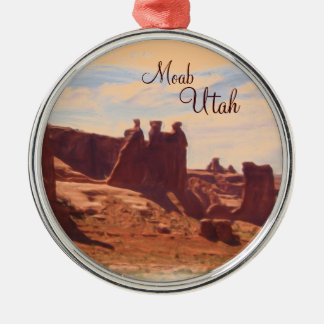 Moab Utah three rocks scenic ornament