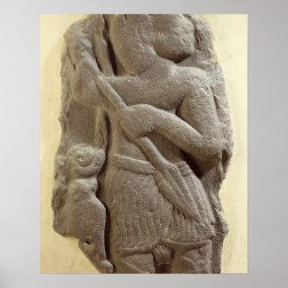 Moabite storm god, Shihan ancient land of Moab, c. Poster