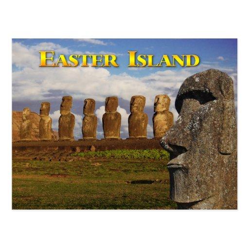 Moai at Ahu Tongariki, Easter Island (Rapa Nui) Post Card