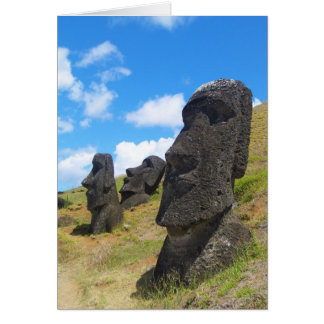 Moai at Rano Raraku Easter Island Card