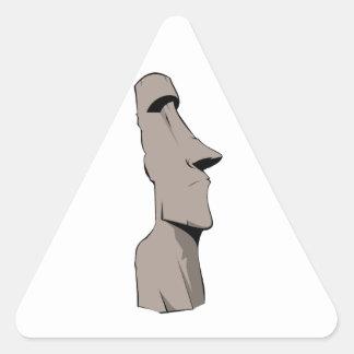 Moai (Easter Island) Statue Triangle Sticker
