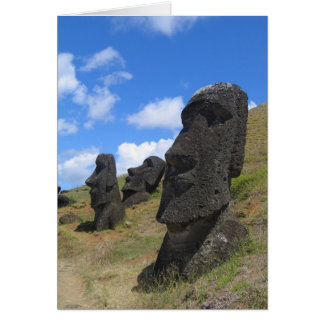 Moai on Easter Island Card