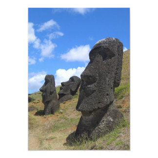 Moai on Easter Island Custom Invites