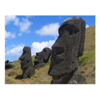 Moai on Easter Island Postcard