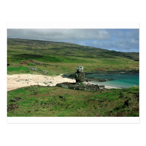 Moai statue Anakena Beach Rapa Nui Easter Island Postcards