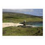 Moai statue Anakena Beach Rapa Nui Postcards