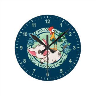 Moana   Pua & Heihei Voyagers Wall Clock