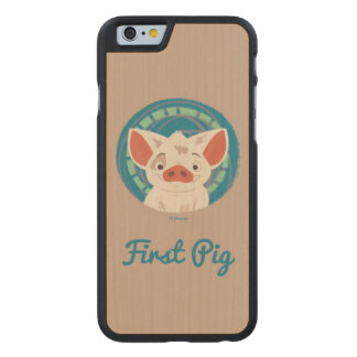 Moana | Pua The Pig Carved® Maple iPhone 6 Slim Case
