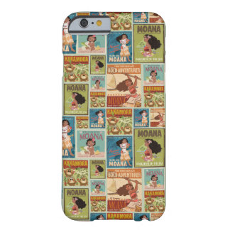Moana | Retro Poster Pattern Barely There iPhone 6 Case