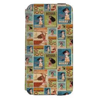 Moana | Retro Poster Pattern Incipio Watson™ iPhone 6 Wallet Case