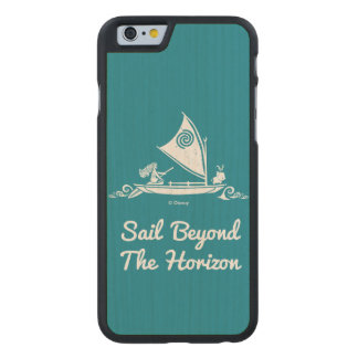 Moana | Sail Beyond The Horizon Carved® Maple iPhone 6 Case
