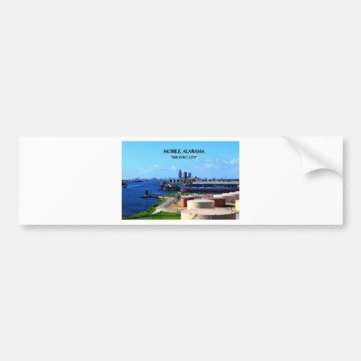 MOBILE, ALABAMA - The Port City Bumper Sticker