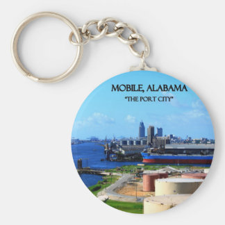 MOBILE, ALABAMA - The Port City Key Ring