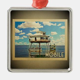Mobile Alabama Vintage Travel Ornament