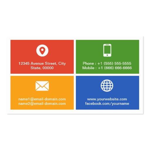 Mobile App Developer Creative Modern Metro Style