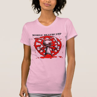 "Mobile Deathcamp women's ""Murder Bunny"" pink shirt"